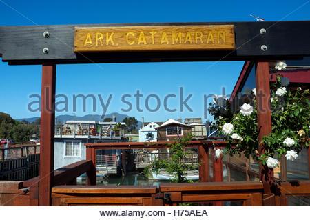 Entrance to house boat in Sausalito, Marin County, California, USA. - Stock Image