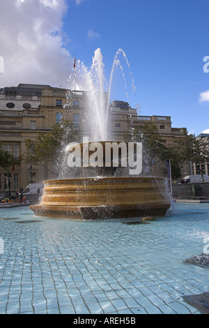 Fountain, Trafalgar Square, London - Stock Image