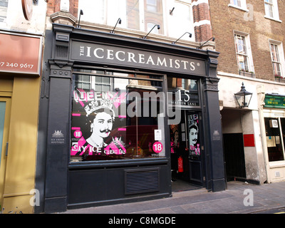 Icecreamists ice cream shop in Covent Garden - Stock Image