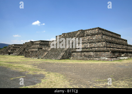 The Plaza of the Moon, Teotihuacan, Mexico - Stock Image