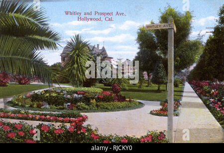 Whitley and Prospect Avenue, Hollywood, California, USA. - Stock Image