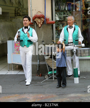 Street Entertainers in Puebla City, Mexico - Stock Image