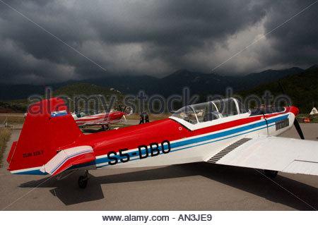 Grobnik Croatia Air show 2005 trainer Zlin 526 F Slovenian S5 DBO - Stock Image