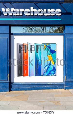 Huawei mobile telephone advertising - Stock Image