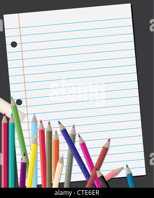 back to school background - Stock Image