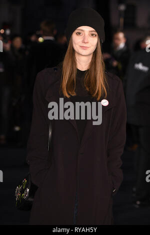 London, UK. 12th Mar, 2019. LONDON, UK. March 08, 2019: Tanya Reynolds arriving for the premiere of 'The White Crow' at the Curzon Mayfair, London. Picture: Steve Vas/Featureflash Credit: Paul Smith/Alamy Live News - Stock Image