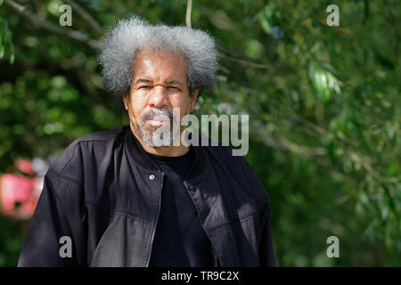 Hay Festival, Hay on Wye, Powys, Wales, UK - Friday 31st May 2019 - Albert Woodfox at the Hay Festival to talk about his book Solitary which tells of his many decades in solitary confinement for a crime he did not commit. The eleven day Festival features over 800 events - the Hay Festival continues to Sunday 2nd June. Photo Steven May / Alamy Live News - Stock Image