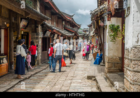 Lijiang ancient town, Yunnan, China - Stock Image