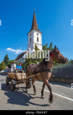 Romania, Sibiel village near Sibiu City, local transport - Stock Image