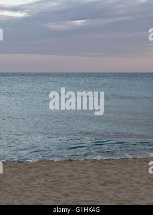Twilight at Coast Guard Beach, Eastham, Cape Cod, Massachusetts. Scenic coastal  late fall autumn colors peaceful - Stock Image