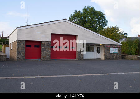 Rhayader fire and rescue station building, Powys Wales UK. - Stock Image
