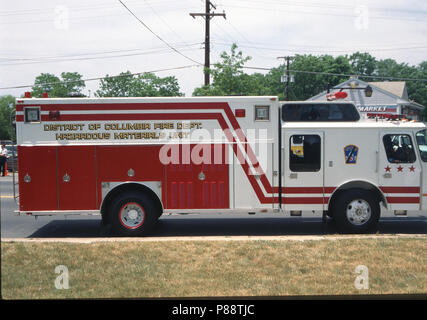 District of Columbia's fire department Hazardous Material fire truck - Stock Image