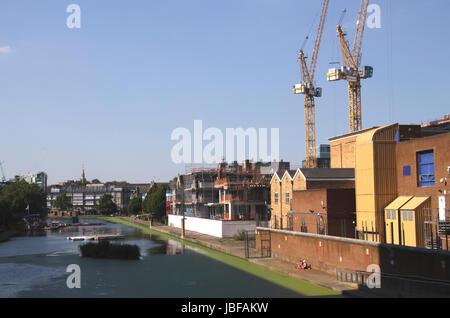 Regents Canal City Road Basin Islington London August 2016 - Stock Image