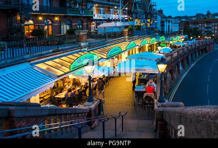 Westcliff Arcade,Ramsgate,Seafront,Night,Diners,Kent,England Restaurants,Ramsgate,Kent,England,UK - Stock Image