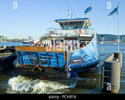 Passenger Ferry Amsterdam Holland - Stock Image