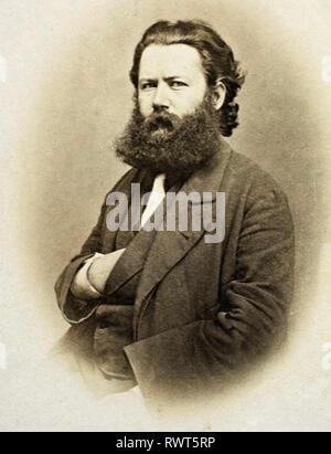 HENRIK IBSEN (1828-1906) Norwegian playwright about 1865 - Stock Image