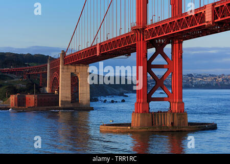 Fort Point, Golden Gate Bridge, San Francisco, California, USA - Stock Image