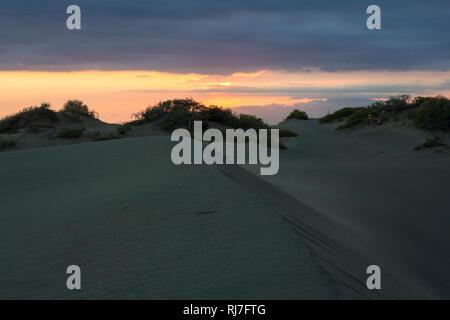 Große Antillen, Karibik, Dominikanische Republik, Bani, Sonnenuntergang in den Dünen von Bani - Stock Image