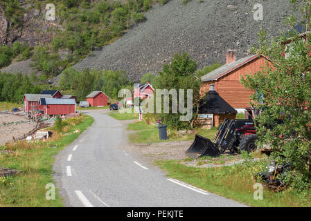 Russeluft, Alta, Norway, small village at the end of road - Stock Image