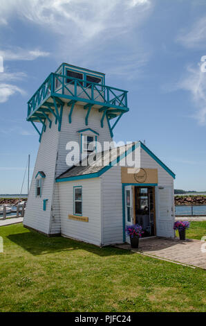 Lighthouse shop at Spinnaker's Landing in Summerside, Prince Edward Island. - Stock Image