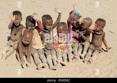 Africa, Namibia, Opuwo. Himba children. Credit as: Wendy Kaveney / Jaynes Gallery / DanitaDelimont.com - Stock Image