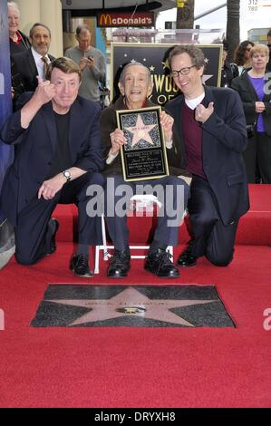 Los Angeles, CA, USA. 4th Feb, 2014. Brian Witten, Jack H. Harris, Larry Cohen at the induction ceremony for Star - Stock Image
