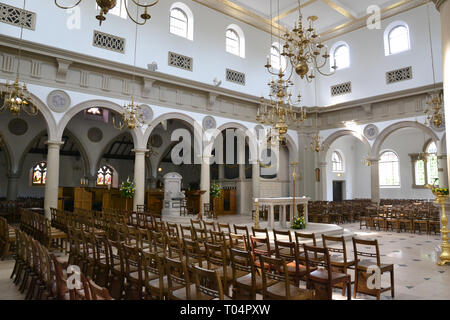 Inside the Roman Catholic Cathedral of St Mary and St Helen - also known as Brentwood Cathedral, Essex, UK - Stock Image