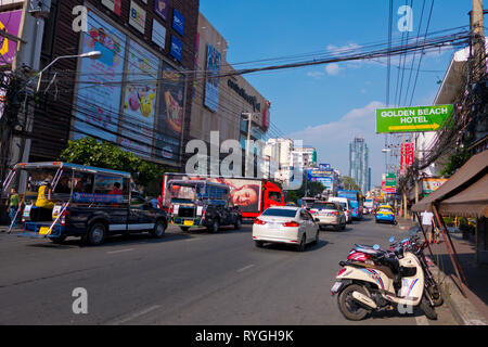 2 Road, Pattaya, Thailand - Stock Image