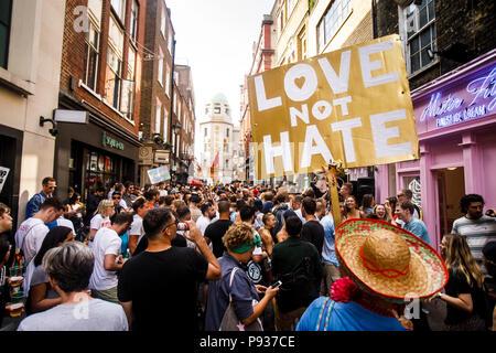 Stop Trump Demo London 13 July 2018 - Stock Image