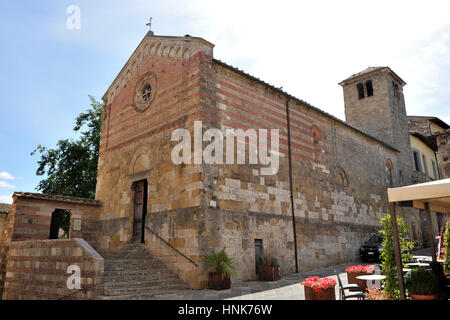 church of Santa Maria in Canonica, Colle di val d'elsa, Tuscany, Italy - Stock Image