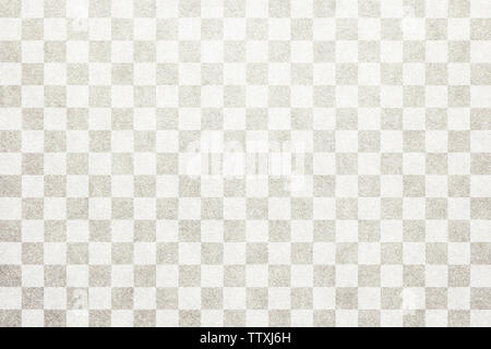 Japanese traditional white color checkered pattern paper texture background - Stock Image