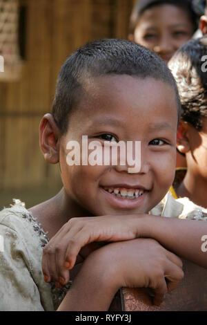 BANGLADESH Girl of Garo tribal minority, Mymensingh. photo by Sean Sprague - Stock Image