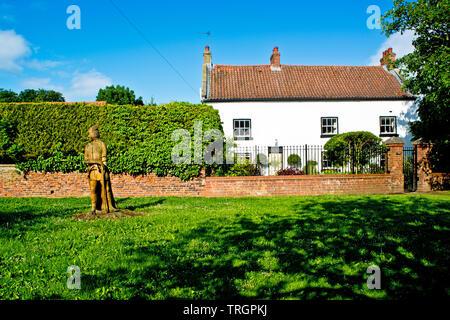 Sadberge Guardian and Tthe House, Sadberge, Borough of Darlington, Englandi - Stock Image