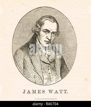 James Watt, Scottish inventor & engineer - Stock Image