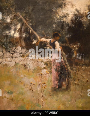 A Capriote, John Singer Sargent, 1878, Museum of Fine Arts, Boston, Mass, USA, North America - Stock Image