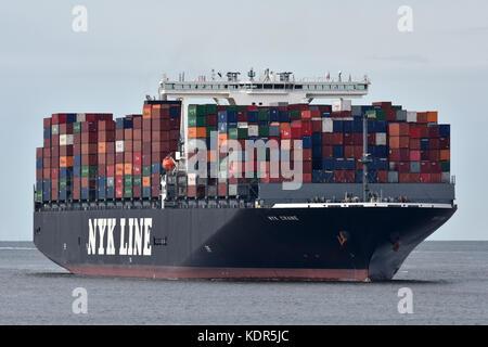 NYK Crane - Stock Image