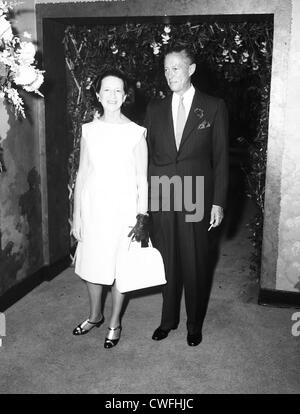 Diana Vreeland, editor of Vogue and husband T Reed Vreeland at the Zauderer-Duchin wedding reception at the St Regis - Stock Image