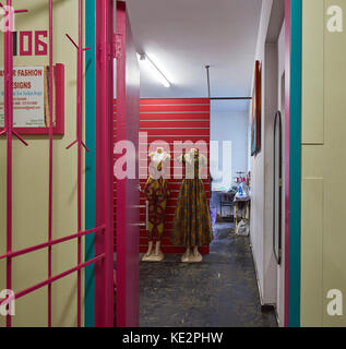 View into tailor studio. Pioneer Place, Durban, South Africa. Architect: designworkshop : sa, 2016. - Stock Image