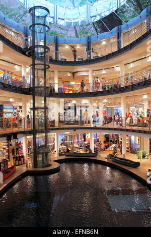 Globetrotter sports shop is a unique shopping experience where consumers dream about their next adventure in Cologne.. - Stock Image