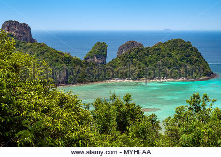 Nui Bay on Koh Phi Phi Don island (Thailand) - Stock Image