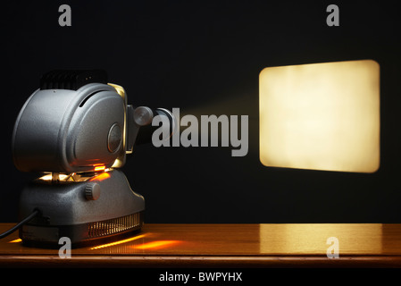 Projector projecting - Stock Image