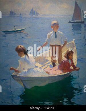 Calm Morning, Frank Benson, 1904, Museum of Fine Arts, Boston, Mass, USA, North America - Stock Image