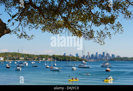 Watsons Bay looking towards the city Sydney Harbour Australia - Stock Image