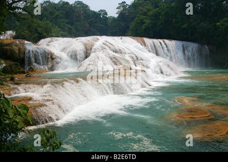 The Cataratas de Agua Azul, Nr Palenque, Chiapas State, Mexico. - Stock Image