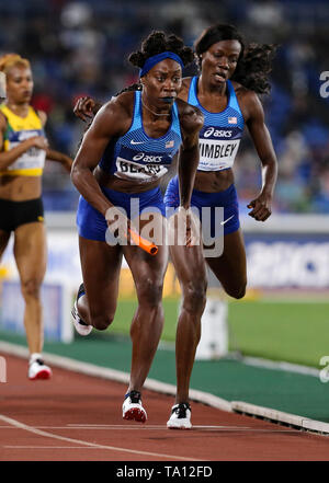 YOKOHAMA, JAPAN - MAY 12: Jessica Beard of the USA n the women's 4x400m final during Day 2 of the 2019 IAAF World Relay Championships at the Nissan Stadium on Sunday May 12, 2019 in Yokohama, Japan. (Photo by Roger Sedres for the IAAF) - Stock Image