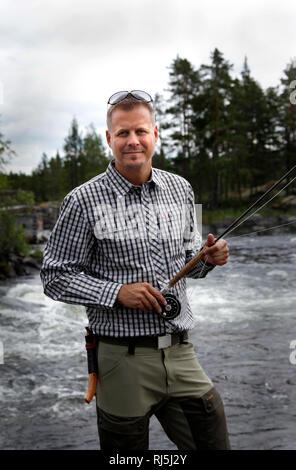 Man fishing - Stock Image