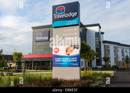 Cambridge Orchard Park Travelodge, England - Stock Image