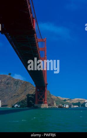 Golden Gate Bridge as taken from San Francisco Bay, California - Stock Image