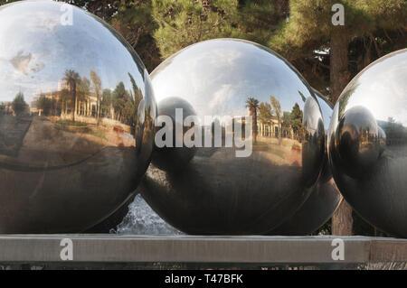 Azerbaijan, Baku, Fountains Square - Stock Image