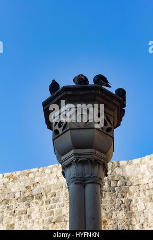 Vintage torch in Old City, Dubrovnik - Stock Image